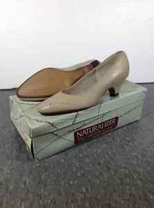 "Naturalizer 7N beige low 2"" heels"