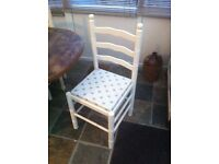 Solid pine extendable table and 6 chairs