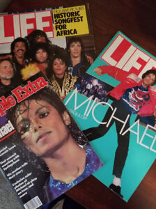 Limited Edition Michael Jackson Magazines from the 80's