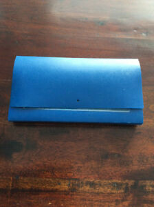 Small Blue Half Size File Folder with Tabs & 12 Files