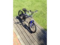 Boys rhino mountain bike! Full suspension! Front disc brake! Cheap look now