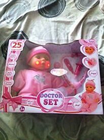 25 function doctor set dolls brand new