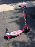 Hot pink Razor Electric Scooter