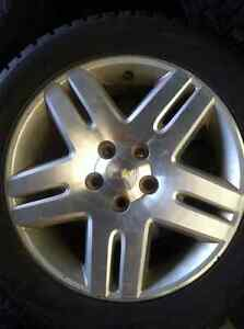 """4 - Chevy Impala/Monte Carlo 17"""" Alloy Rims with Winter Tires"""