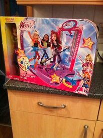 Brand new Winx club rock concert stage with doll reduced to £15