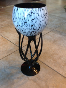 Vase deco en verre soufflé