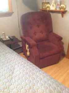 Electric  Lift chair (Burgundy )