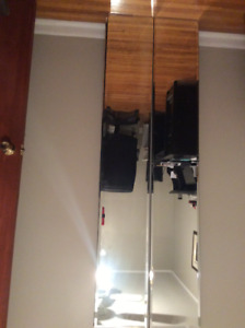 Plate glass bevelled wall mirrors