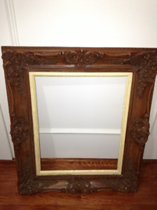 Gorgeous wood frame for sale