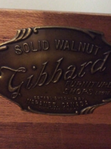Beautiful antique furniture from GIBBARD Walnut wood