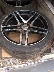 "Set of THREE ONLY genuine AMG 19"" alloys with tyres"