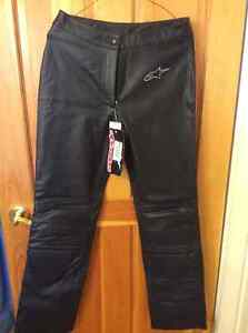 Ladies new leather motorcycle pants for sale