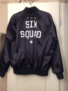 "LIMITED EDITION ""THE SIX SQUAD"" TORONTO RAPTORS SATIN JACKET"