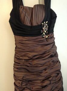 Very elegant metallic brown prom/ special occasion dress London Ontario image 2