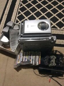 PS3 with games and home theatre system surroundsound