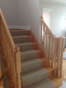 stair pickets spindles  and stair posts solid oak