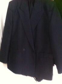 Black double breasted jacket size 14 unworn