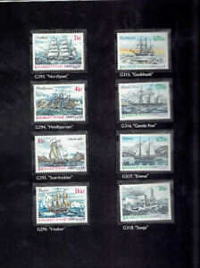 "16 timbres neufs ""Navires"" de Greenland"