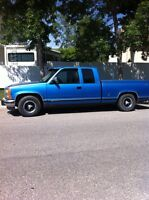 Lowered 93 Ex Cab Chev $2500 Or Trade For Older Short Van