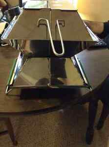 "USED ECOQUE STAINLESS STEEL 12"" PORTABLE GRILL"