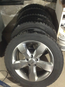 "20"" rims with Toyo winter tires"