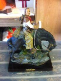 Cowboy on horse figure