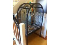 Steel parrot cage