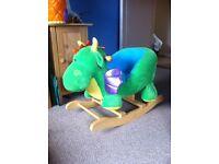 Childs ride on rocking dragon