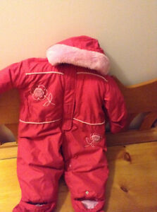 Beautiful pink age 2 years / 24 moths snow suit VERY WARM