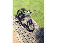 "Boys 20"" full suspension mountain bike with front disc brake!"
