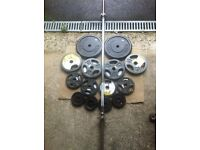 53kg CAST IRON WEIGHTS WITH 5ft BARBELL