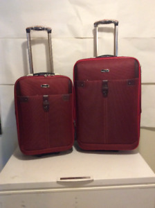 Crimson Red Luggage Set
