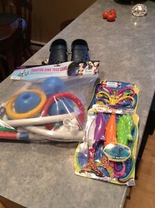 HEY POOL OWNERS.....toys for sale also pair of Dawgs ....NEW!!!