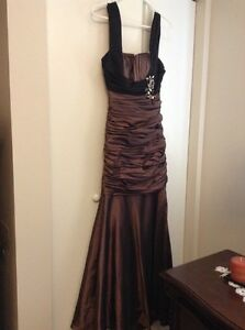 Very elegant metallic brown prom/ special occasion dress