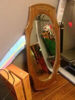 Heavy wooden mirror