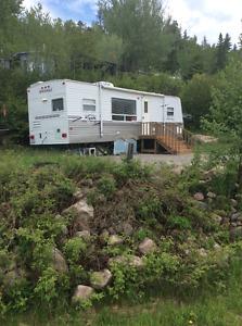 Camper Trailer on Permanent Site