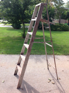 6 ft high folding ladder - good solid condition