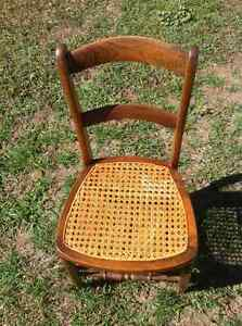 Dining room chairs, set of 4, re-caned, vintage,