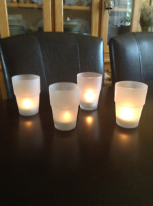 frosted tea light holders