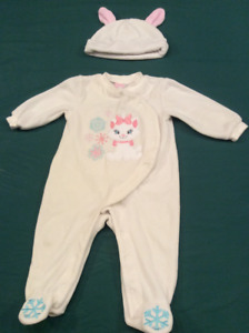 Disney's Aristocats, Baby Girl Outfit with hat, size 6 months