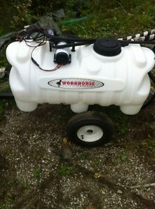 Lawn sprayer with hand wand.