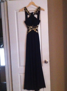 Navy Evening Dress/Gown - Great for Grad or Prom!