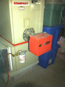 Compact oil fired furnace