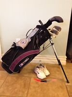 Right handed junior golf set and shoes