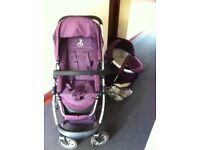 Mulberry Icandy cherry bassinet and seat, car seat all accessories inc