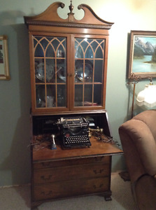 Antique Solid Wood Secretary desk with hutch
