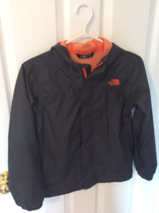 NORTH FACE boys wind/rain jacket (10/12)