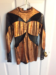 Gold/Black Dance Outfit size: Adult Small