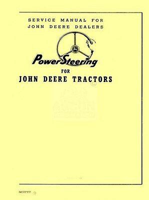 John Deere 50 60 70 520 620 720 820 Tractor Power Steering Shop Service Manual