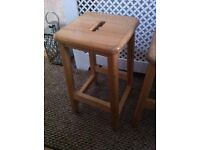 SOLID WOOD OLD SCHOOL BENCH BENCHES STOOL STOOLS VERY STRONG